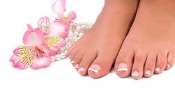 De zorg van de spijker voor de voeten van vrouwen Royalty-vrije Stock Foto