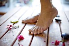 De zorg van de voet Stock Fotografie