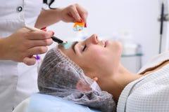 De zorg van de huid De behandeling van de schoonheid stock fotografie