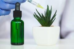 De zorg van de huid Kosmetische het laboratorium organische huid van de wetenschaps holistic installatie stock foto's