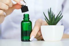 De zorg van de huid Kosmetische het laboratorium organische huid van de wetenschaps holistic installatie royalty-vrije stock fotografie