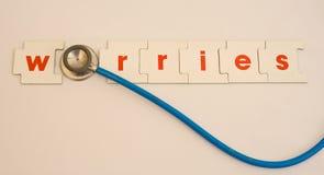 De zorgen van de gezondheid. royalty-vrije stock foto's