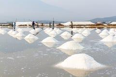 De zoute gebieden van Hon Khoi in Nha Trang, Vietnam Stock Afbeeldingen
