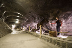 De zoute mijn van Wieliczka Stock Afbeeldingen