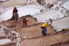 De zoute terrassen van Moray, Peru Royalty-vrije Stock Afbeeldingen