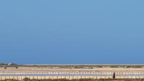 De zoute vijvers van Ibiza Stock Afbeelding