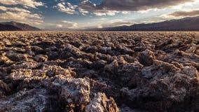 De Zoute Vlakten van de doodsvallei in Californië stock video