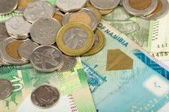 De Zuidafrikaanse bankbiljetten van landen Stock Foto's