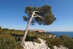 De zuidelijke kustlijn van Frankrijk Stock Fotografie