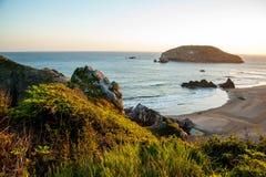 De zuidelijke kustlijn van Oregon stock afbeelding