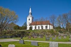 (De zuidoosten) kerk van Näsinge Stock Afbeelding