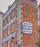 De zuidwestelijke Bouw van het Spoorwegbureau - Plymouth Engeland stock afbeelding