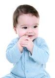 De zuigende vingers van de baby Stock Foto's