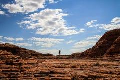 De zuivere grootte van de Canion van de indrukwekkende Koning, Noordelijk Grondgebied, Australië stock afbeeldingen