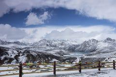 De zustersmeer van de Haiziberg in Tibet Stock Afbeeldingen