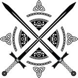 De zwaarden van de fantasie Royalty-vrije Stock Afbeelding