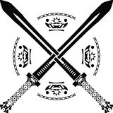 De zwaarden van de fantasie. eerste variant Royalty-vrije Stock Afbeelding