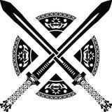 De zwaarden van de fantasie. tweede variant Stock Afbeeldingen