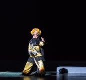 """de zwaardvechter-Purpere Haarspeld--jiangxi opera""""four dromen van linchuan† Royalty-vrije Stock Afbeeldingen"""