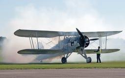 De Zwaardvis van Fairey begint zijn motor Stock Foto