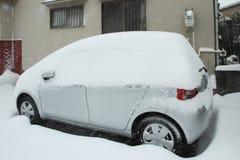 De zwaarste sneeuw in decennia op Tokyo en ander gebied van Japan Stock Fotografie