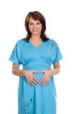 De zwangere vrouw die van Nice 3 glimlacht Royalty-vrije Stock Foto's
