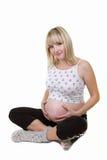 De zwangere vrouw isoleert stock afbeelding