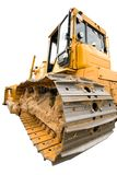 De zware gele bulldozer Royalty-vrije Stock Afbeeldingen