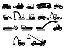 De zware illustraties van bouwmachines vector illustratie