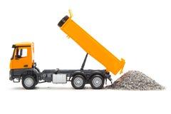 De zware vrachtwagen van het stuk speelgoed Stock Afbeelding