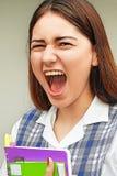 De zware Vrouwelijke Student van Latina Royalty-vrije Stock Afbeeldingen