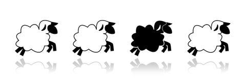 De zwart schapen Stock Afbeelding