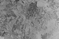 De zwart-wit Achtergrond van de Contrast Concrete Textuur stock afbeelding