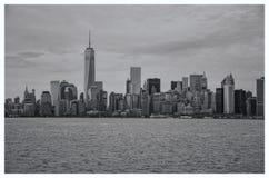 De zwart-wit Horizon van New York Royalty-vrije Stock Foto's