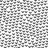 De zwart-witte abstracte eenvoudige hoek geeft geometrisch naadloos patroon, vector gestalte Royalty-vrije Stock Afbeelding