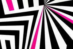 De zwart-witte abstracte regelmatige geometrische achtergrond van de stoffentextuur Royalty-vrije Stock Fotografie