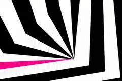De zwart-witte abstracte regelmatige geometrische achtergrond van de stoffentextuur Royalty-vrije Stock Afbeeldingen