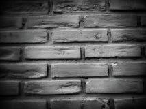 De zwart-witte achtergrond van de bakstenen muurtextuur Royalty-vrije Stock Foto