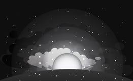 De zwart-witte achtergrond van de ochtendhemel, Stock Fotografie