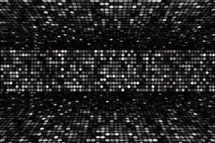 De zwart-witte achtergrond van het puntenstadium, perspectief stock illustratie