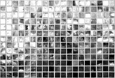 De zwart-witte Achtergrond van Vierkanten Royalty-vrije Stock Afbeeldingen