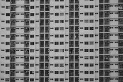 De zwart-witte bouw in de stad royalty-vrije stock afbeeldingen