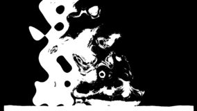 De zwart-witte 3d overgang, geeft computer het produceren terug royalty-vrije illustratie