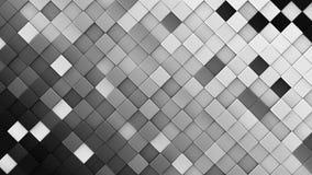 De zwart-witte 3D ruiten geven terug vector illustratie