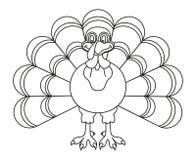 De zwart-witte dankzegging Turkije van de lijnkunst royalty-vrije illustratie