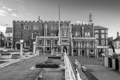 De zwart-witte fotografie van Norwich Guildhall Royalty-vrije Stock Afbeelding