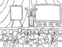 De zwart-witte Gebeurtenis van de overeenkomst - Royalty-vrije Stock Afbeeldingen