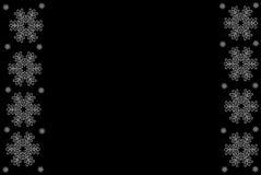 De zwart-witte Illustratie van de Sneeuwvlok Royalty-vrije Stock Foto's
