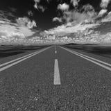 De zwart-witte kleur van de weg royalty-vrije stock fotografie