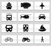De Zwart-witte Knopen van het vervoer - Stock Foto